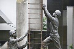 Estatua, área del museo de Three Gorges, China imagen de archivo