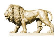 Estatua 3, oro del león Imagen de archivo libre de regalías