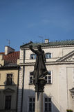 Estatua al predicador Piotr Skarga In Krakow Poland de la jesuita Imagen de archivo