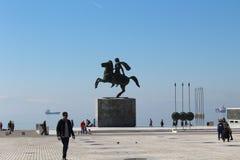 Estatua Alexander el grande Foto de archivo
