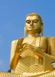 Estatua amarilla de oro de Buda Imagen de archivo