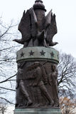 Estatua americana de la guerra imagen de archivo
