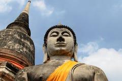 Estatua antigua de Buda en Ayutthaya Fotos de archivo libres de regalías