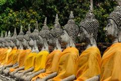 Estatua antigua de Buda en Ayutthaya Fotografía de archivo libre de regalías