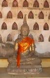 Estatua antigua de Buda en Wat Sisaket en Vientián Imágenes de archivo libres de regalías