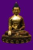 Estatua antigua de buddha tíbet Budismo Fotografía de archivo