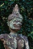 Estatua antigua de Lanna (templo antiguo) del estilo de Lanna Thai, Tailandia Imagen de archivo