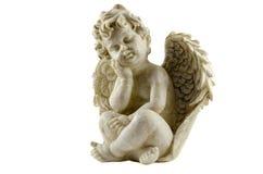 Estatua antigua del ángel aislada fotos de archivo