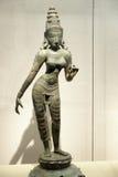 Estatua antigua del bronce de la India Foto de archivo libre de regalías