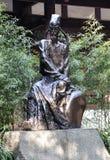 Estatua antigua del poeta fotografía de archivo
