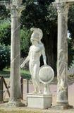 Estatua antigua en el chalet Adriana, Tivoli Roma Foto de archivo libre de regalías