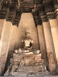 Estatua arruinada de Buddha Imagen de archivo