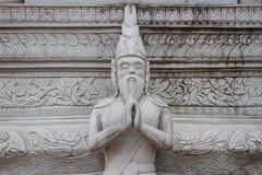 Estatua ascética en arte tailandés del moldeado del estilo, del sement Fotos de archivo libres de regalías