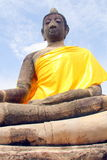 Estatua Ayuthaya, Tailandia de Buddha foto de archivo libre de regalías