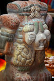 Estatua azteca Imágenes de archivo libres de regalías