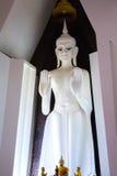 Estatua blanca de Buda (vertical) Fotos de archivo