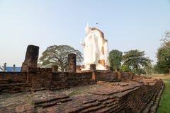 Estatua blanca de buddha Foto de archivo