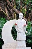 Estatua blanca de la leyenda popular china Foto de archivo libre de regalías