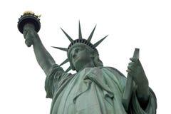 Estatua blanca del cielo de la libertad Foto de archivo