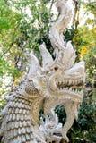 Estatua blanca del dragón Imágenes de archivo libres de regalías