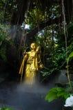 Estatua budista de oro Imágenes de archivo libres de regalías