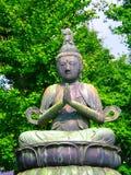 Estatua budista en Asakusa Fotos de archivo