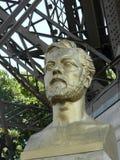 Estatua, busto de Eiffel Imagen de archivo libre de regalías