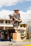 Estatua campesina andina en Salasaca Fotos de archivo libres de regalías