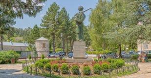 Estatua Cetinje de Ivan Crnojevic Foto de archivo