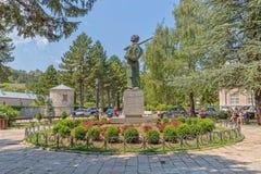 Estatua Cetinje de Ivan Crnojevic Fotografía de archivo libre de regalías