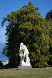 Estatua, chalet Melzi, lago Como Fotografía de archivo libre de regalías