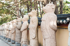 Estatua china de la muestra del zodiaco Fotos de archivo