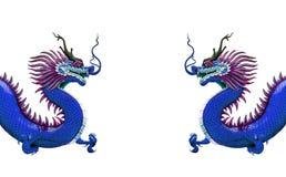 Estatua china del dragón aislada Fotos de archivo