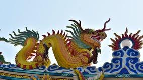 Estatua china del dragón de la cultura Arte chino en cultura del chino de Tailandia Fotografía de archivo libre de regalías