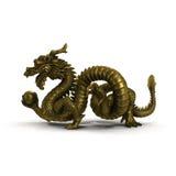 Estatua china del dragón en el fondo blanco Fotografía de archivo