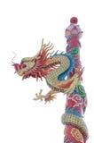 Estatua china del dragón en el fondo blanco Fotografía de archivo libre de regalías