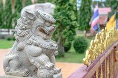 Estatua china del león imagenes de archivo