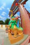 Estatua china del león Imágenes de archivo libres de regalías