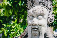 Estatua china en el Wat Phra Kaew Palace, también conocido como Emerald Buddha Temple Bangkok, Tailandia Imagen de archivo libre de regalías