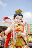 Estatua china hermosa en el wat Saman Rattanaram Foto de archivo libre de regalías