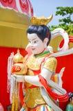 Estatua china hermosa en el wat Saman Rattanaram el 1 de diciembre de 2015 en Chachoengsao, Tailandia Fotos de archivo