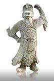 Estatua china vieja en el tample budista Fotografía de archivo