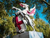 Estatua, ciudad de Londres Imágenes de archivo libres de regalías