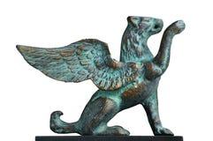 Estatua coa alas del león Imagen de archivo