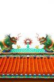 Estatua colorida del dragón Imágenes de archivo libres de regalías