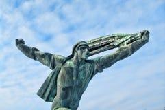 Estatua comunista fotografía de archivo