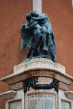 Estatua conmemorativa en Marostica, Italia Fotos de archivo libres de regalías