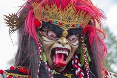 Estatua construida para el desfile de Ngrupuk, que de Ogoh-ogoh ocurre en incluso del día de Nyepi en la isla de Bali, Indonesia Imagenes de archivo