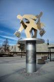 Estatua corriente del hombre Foto de archivo