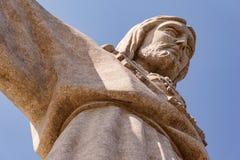 Estatua Cristo Rei en Lisboa fotografía de archivo